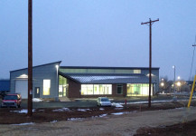 New storefront,  glass  & translucent panel system