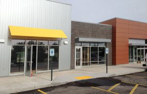 Storefront Windows - Insulated tempered glass w/ thermal barrier aluminum frames.