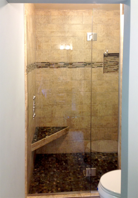 Shower glass pictures | Area Glass WI - Madison/Oregon