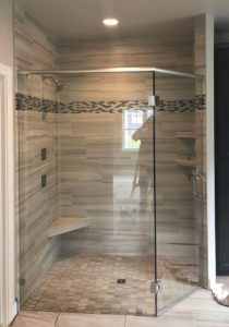 angled shower enclosure - Waunakee Parade of Homes 2019