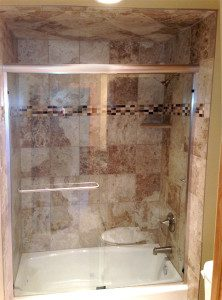 Shower we installed in Waunaukee bathroom